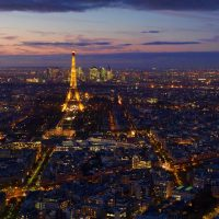 Paris around the Eiffel Tower